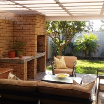 Our Pergola Awning can cover area even around awkward braai areas